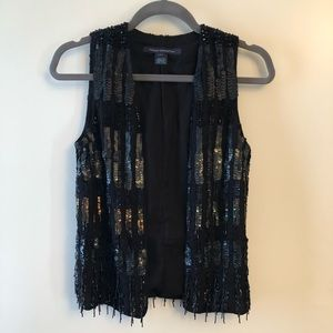 French Connection Beaded Vest